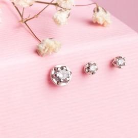 Сережки срібні пусети Промінець