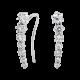 Серебряные серьги каффы 7 Камней ВС-109