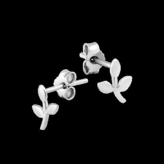 Серьги серебряные пусеты Веточка Надежды ВС-118