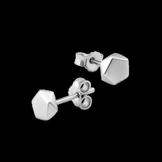 Серьги серебряные пусеты Пентакль ВС-120р