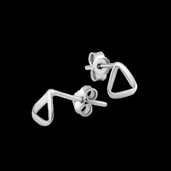 Серьги серебряные пусеты Музыкальный Треугольник ВС-131