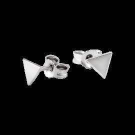 Комплект серебряный Треугольники без камней