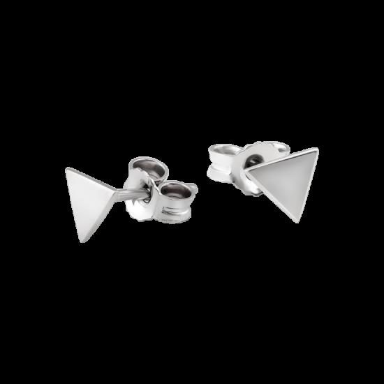 Серьги серебряные пусеты маленький Треугольник ВС-148р