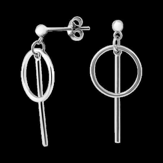Серьги серебряные пусеты Грани Гармонии ВС-154