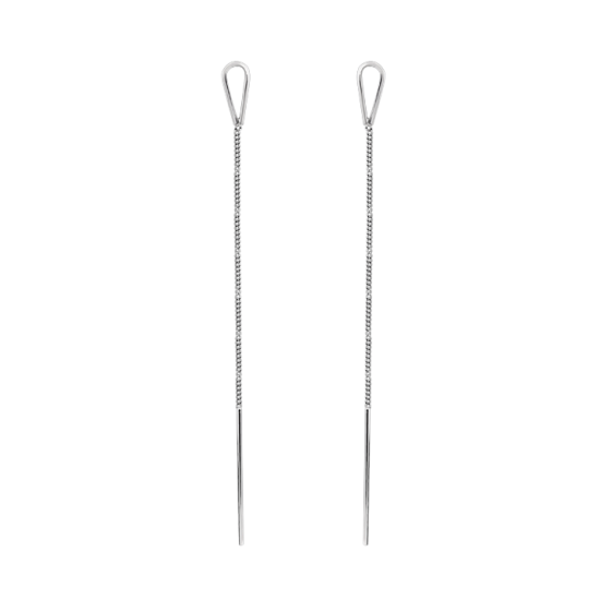 Серьги серебряные протяжки Петля ВС-168р