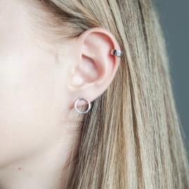 Серьга серебряная каффа на верхнюю часть уха