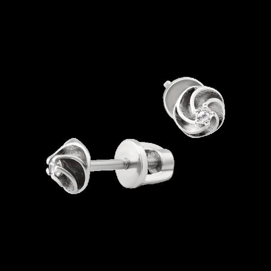 Серьги серебряные пусеты Спирали СД-035ф
