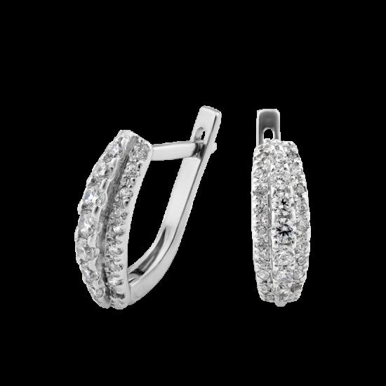 Серебряные серьги  Л-004