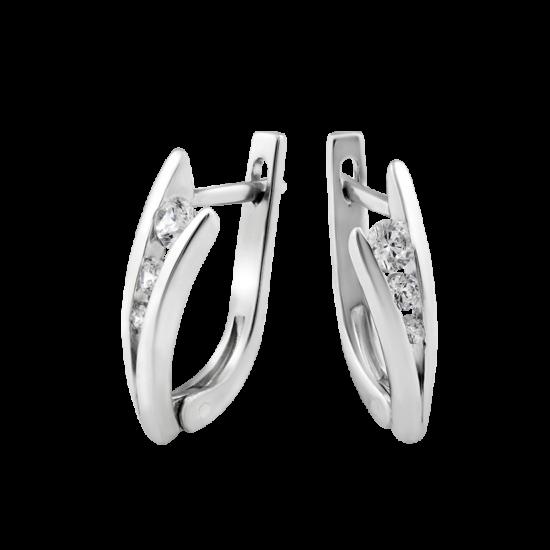 Серебряные серьги  Л-011