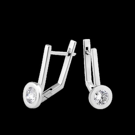 Серебряные серьги Солнце Л-015