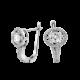 Серебряные серьги  ЛК-0001р