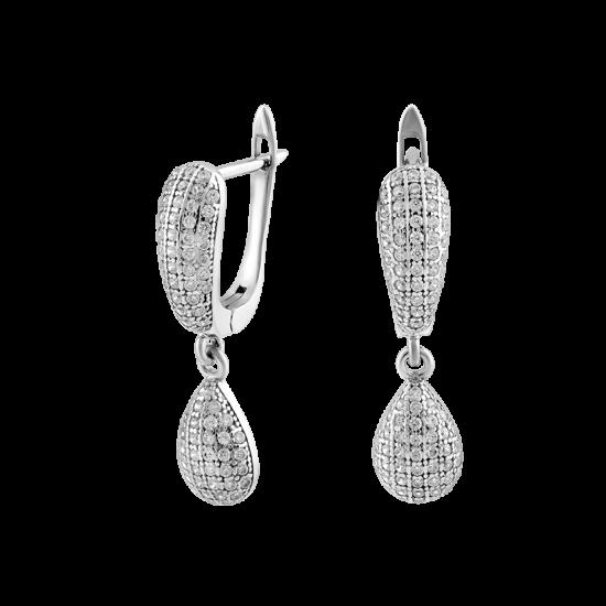 Серебряные серьги  ЛК-0008
