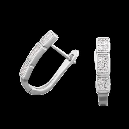 Серебряные серьги  ЛК-0039