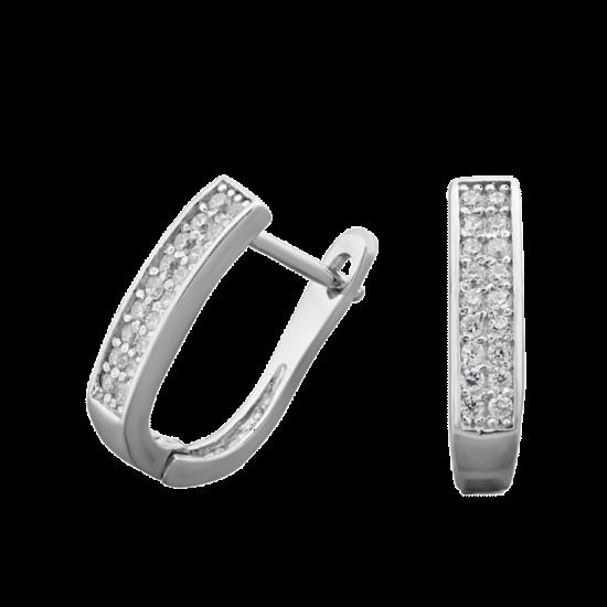 Серебряные серьги  ЛК-0040