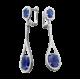 Серебряные серьги  ЛК-0041