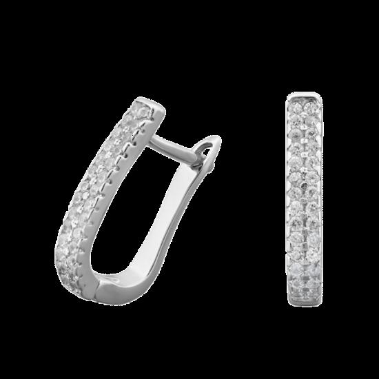 Серебряные серьги  ЛК-0048