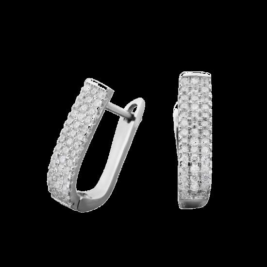 Серебряные серьги дорожка Лаура ЛК-0050рС