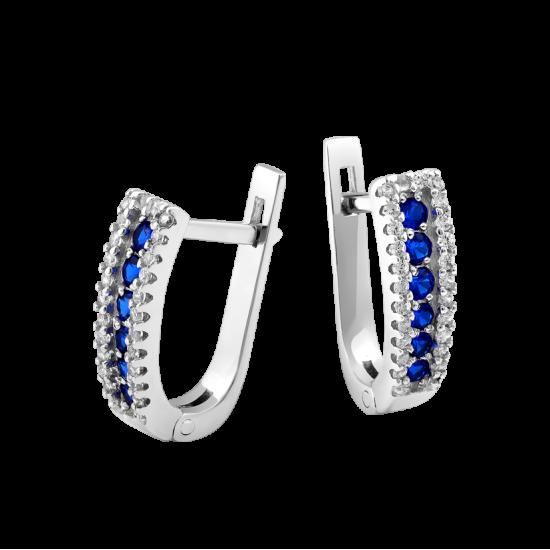 Серебряные серьги  ЛК-0053
