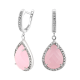 Серебряные серьги с крупным камнем (капля) ЛК-0062