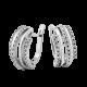 Серебряные серьги  ЛК-0075