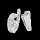 Серебряные серьги  ЛК-0080