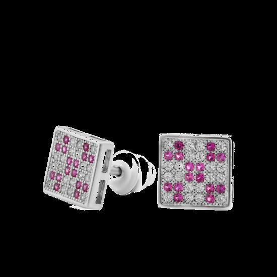 Серебряные серьги  ЛК-0086н