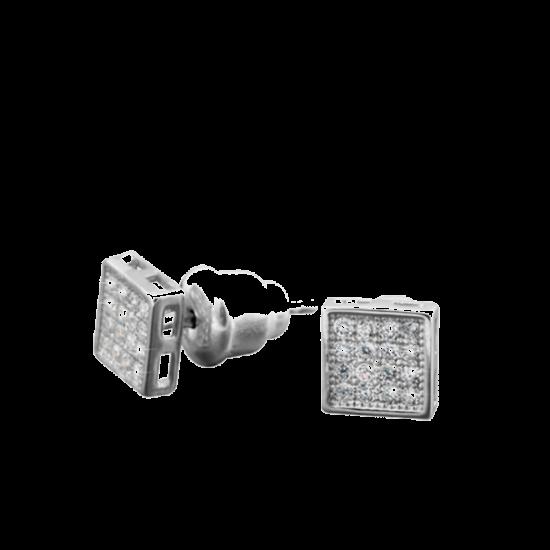 Серебряные серьги  ЛК-0087