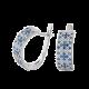 Серебряные серьги Орнамент ЛК-0116-3с