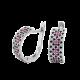Комплект серебряный Орнамент тонкое кольцо и серьги ЛК-0116-1чр