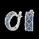 Серебряные серьги Орнамент ЛК-0116-4сч