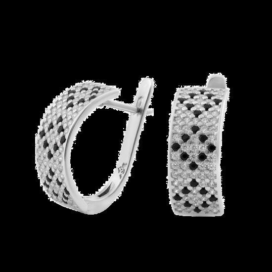 Серебряные серьги Орнамент ЛК-0116-5т