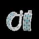 Серебряные серьги Орнамент ЛК-0116-7бт