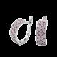 Серебряные серьги Орнамент ЛК-0116-8р