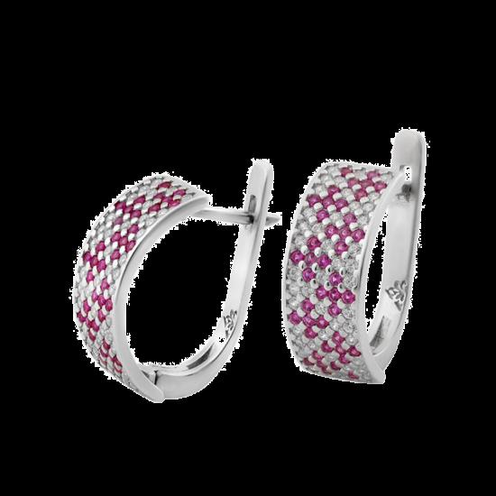 Серебряные серьги Орнамент ЛК-0116-9р