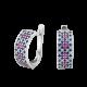 Серебряные серьги Орнамент ЛК-0117-1cp