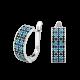 Серебряные серьги Орнамент ЛК-0116-2чбс