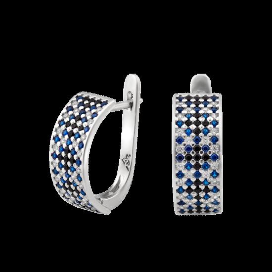 Серьги серебряные Орнамент ЛК-0117-1чс