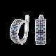 Серебряные серьги Орнамент ЛК-0117-1чс