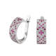 Серебряные серьги Орнамент ЛК-0117-2р