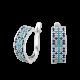 Серебряные серьги Орнамент ЛК-0117-8бс