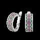 Серебряные серьги Орнамент ЛК-0117-8рз