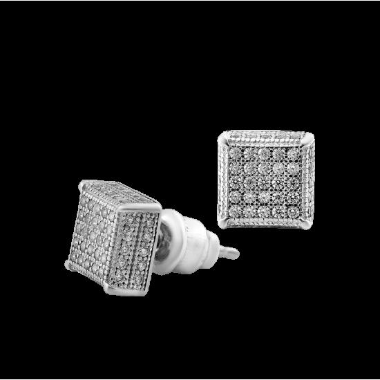 Серебряные серьги пусеты ЛК-0124