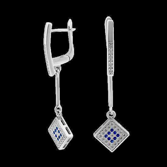 Серебряные серьги  ЛК-0131н