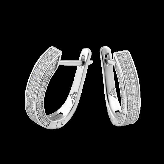 Серебряные серьги  ЛК-0132