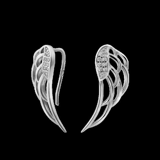 Серебряные серьги Крылья ЛК-0143