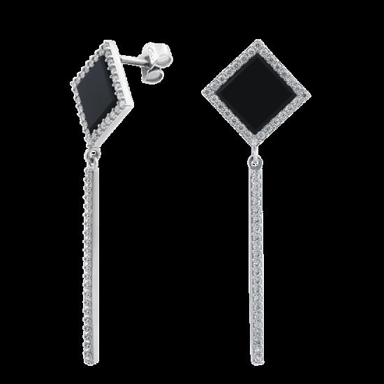 Серебряные серьги  ЛК-0158-1