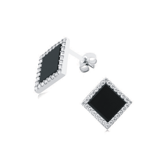 Серебряные серьги  ЛК-0158