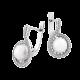 Комплект серебряный Экзотический Цветок с жемчугом и фианитами ЛК-0159