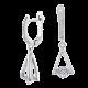 Серебряные серьги  ЛК-0179
