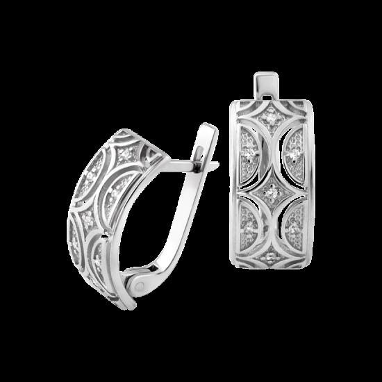 Серебряные серьги Восточный Узор ЛК-0186